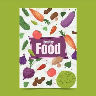 Platte wereld vegetarische dag verticale flyer-sjabloon