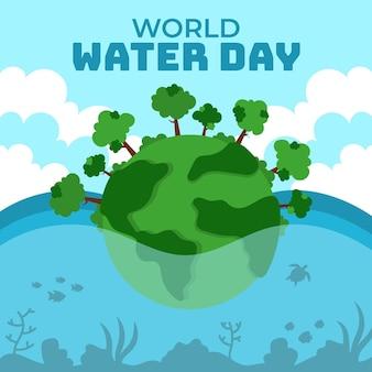 Platte wereld waterdag evenement