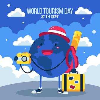 Platte wereldtoerisme dag achtergrond