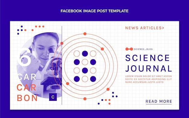 Platte wetenschap facebook-bericht