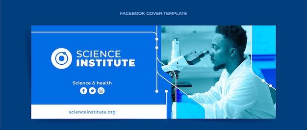 Platte wetenschap facebook-omslag