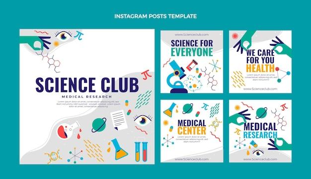 Platte wetenschap instagram post