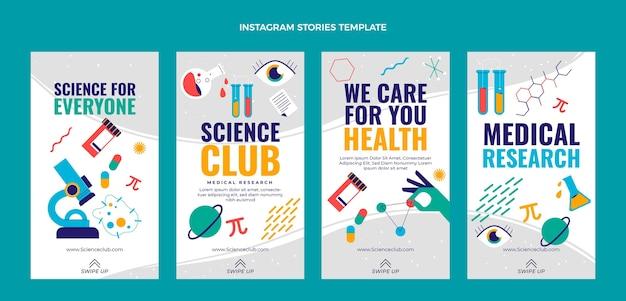 Platte wetenschap instagram verhalen