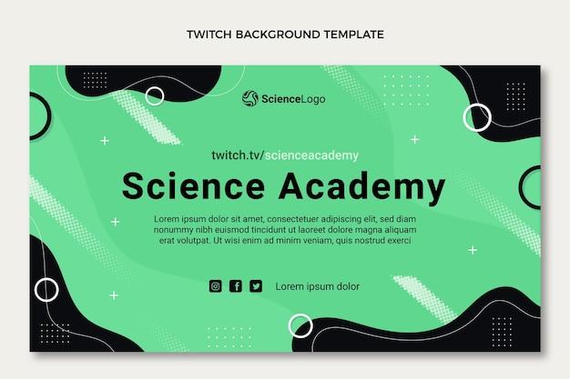 Platte wetenschap twitch achtergrond