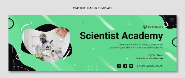 Platte wetenschap twitter header