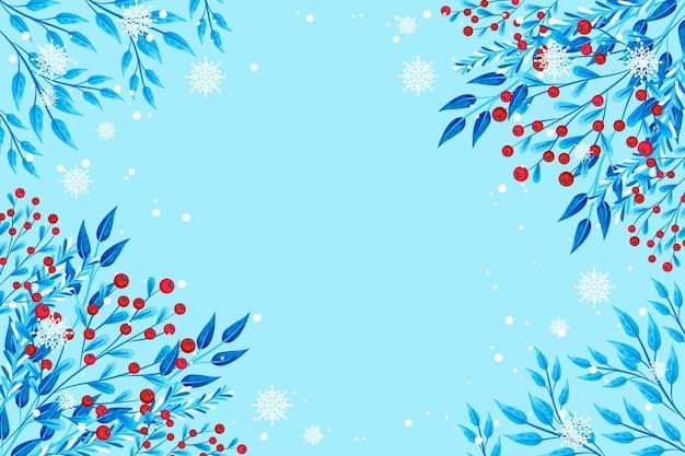 Platte winter achtergrond