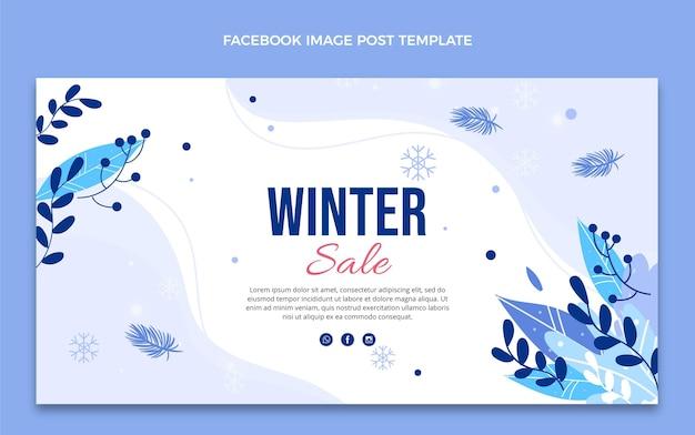 Platte winter social media postsjabloon