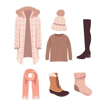 Platte winterkleding en benodigdheden