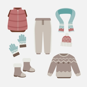 Platte winterkleren en essentials