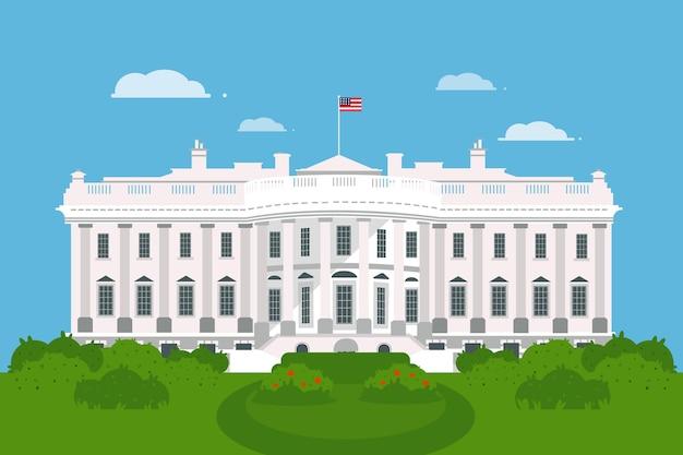 Platte witte huis illustratie