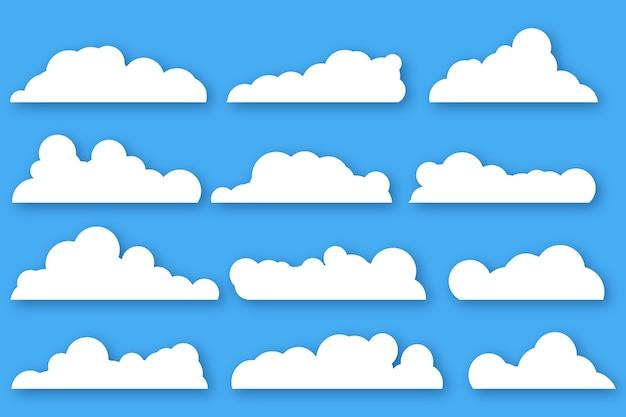 Platte wolkencollectie