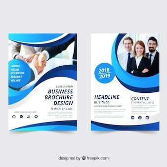Platte zakelijke brochure in a5-formaat
