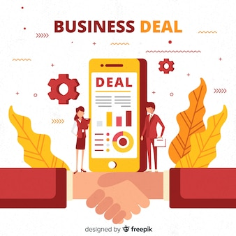 Platte zakelijke deal concept