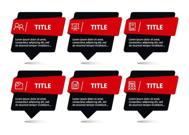 Platte zakelijke infographic sjabloon