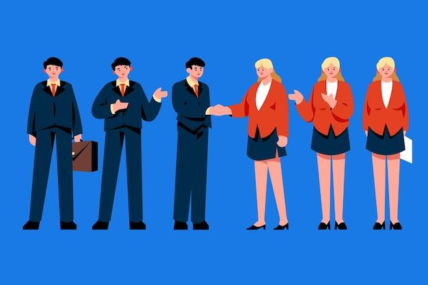 Platte zakenmensen collectie