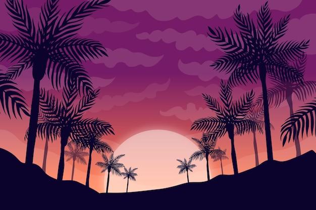 Platte zomer achtergrond voor videocalls