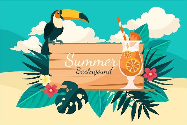 Platte zomer achtergrond