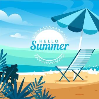Platte zomer illustratie