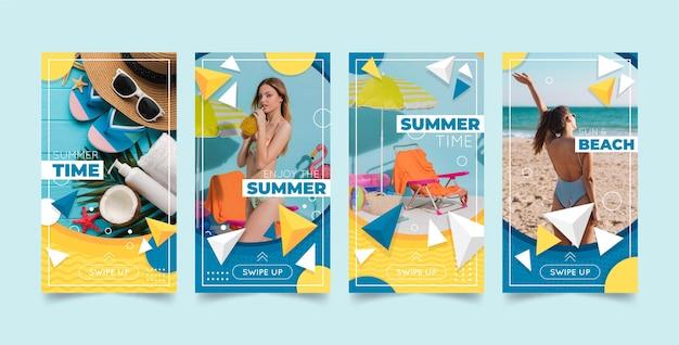 Platte zomer instagram verhalencollectie