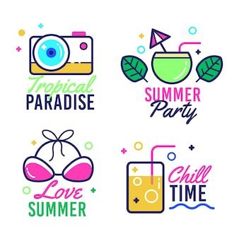 Platte zomeretiketten collectie