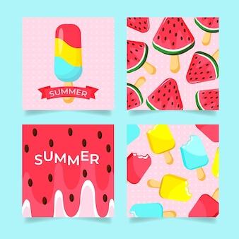 Platte zomerkaart collectie