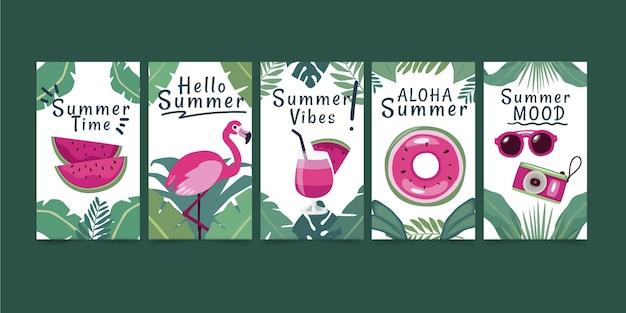 Platte zomerkaarten collectie