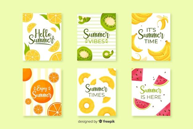 Platte zomerkaarten