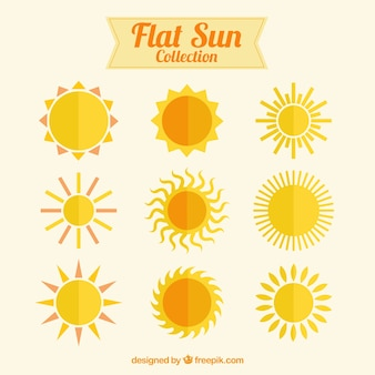 Platte zonnen collectie