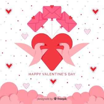 Platte zwanen valentine achtergrond