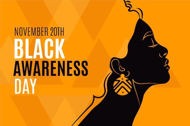 Platte zwarte bewustzijnsdag