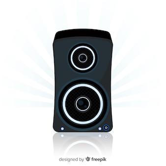 Platte zwarte luidspreker achtergrond