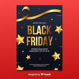 Platte zwarte vrijdag folder sjabloon