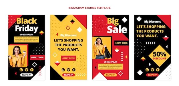 Platte zwarte vrijdag instagram verhalencollectie