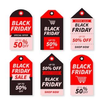 Platte zwarte vrijdag labels collectie