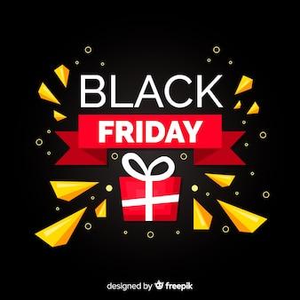 Platte zwarte vrijdag met cadeau
