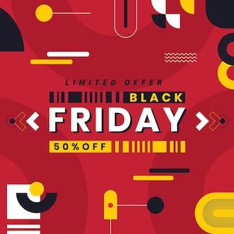 Platte zwarte vrijdag verkoop achtergrond