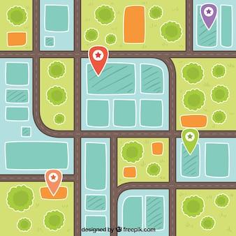Plattegrond van de stad illustratie achtergrond