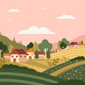 Platteland landschap