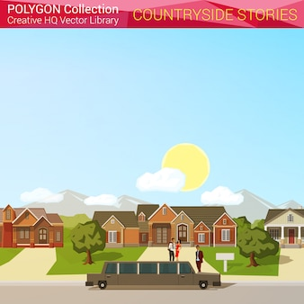 Platteland verhalen illustratie