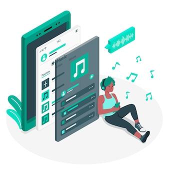 Playlist concept illustratie