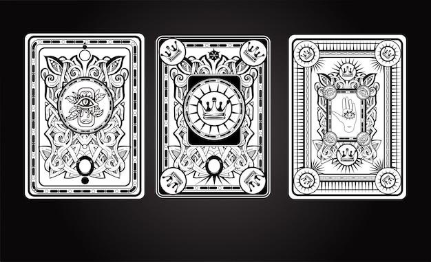 Playng kaart terug illustratie
