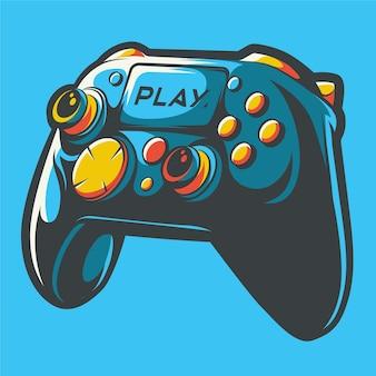 Playstation stick controller kunst illustratie