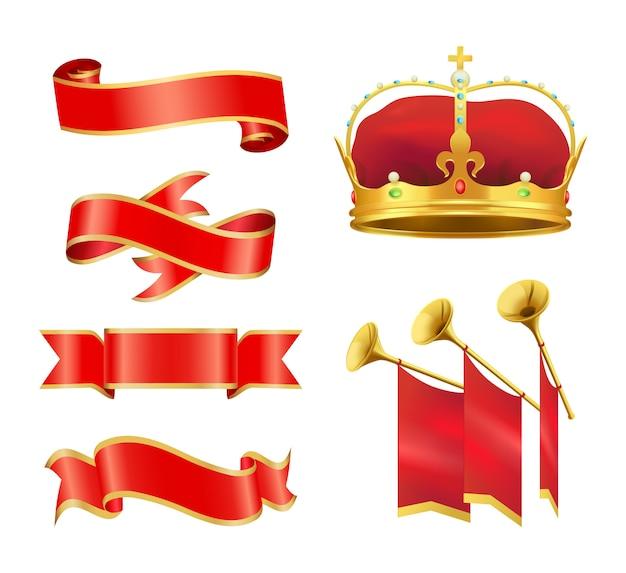 Plechtige gebeurtenis of ceremonie edele heraldische symbolen