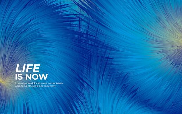 Pluizige vacht blauwe achtergrond