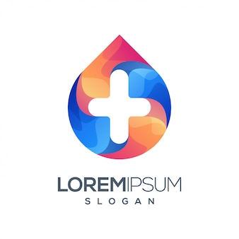 Plus gradiëntkleur logo-ontwerp
