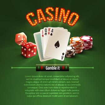 Pocker casino achtergrond