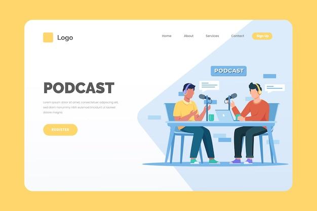 Podcast-bestemmingspagina-sjabloon