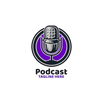 Podcast broadcast mic nieuwsopname logo