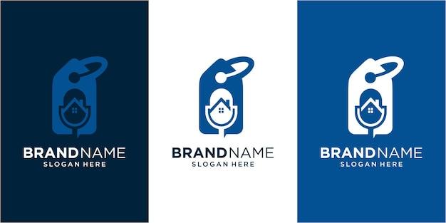 Podcast home verkoop inspiratie voor logo-ontwerp. verkoop logo. huis logo. podcast-logo