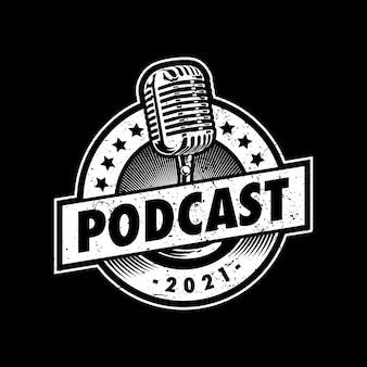 Podcast logo afbeelding ontwerp